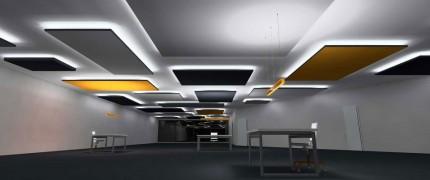 Indirekte Beleuchtung mit LED Streifen und Zierprofile