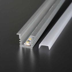 2 Meter SET LED Profil Einbau Holz Beton ALU Grau UL3357