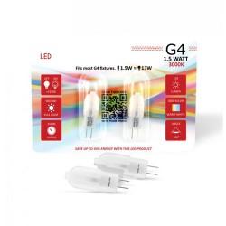 2 Stk. 1,5W G4 LED Lampe für Deckenstrahler Retrofit BUDGET PLUS 320° Neutral-, Warmweiß