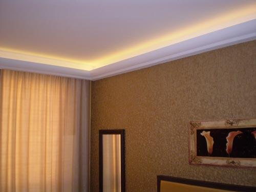 Zierprofile indirekte Beleuchtung Wohnzimmer