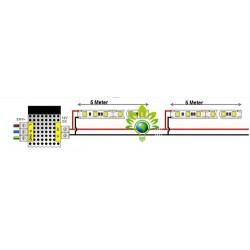 120SMD/m LED Streife Leiste 1m indirekte Beleuchtung Kaltweiß GL4110/UL2002