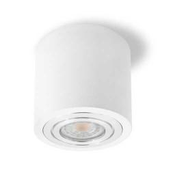 LED Aufbau Leuchte für GU10 Spots Rund Weiß VL4043
