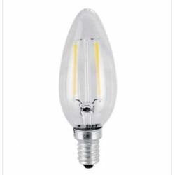 4W LED E14 FILAMENT Kerze für Kronleuchter und Kristalllüster Warmweiß UL4301