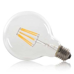 8W E27 LED FILAMENT Pendelleuchte G95 360° Glass Warmweiß VL3693