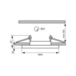 EINBAUSPOT KÖRPER DESIGN CRYSTAL Ø90*25mm für LED GU10 Rund Marmor VL4028