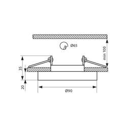 EINBAUSPOT KÖRPER DESIGN CRYSTAL Ø90*35mm für LED GU10 Rund  VL3875