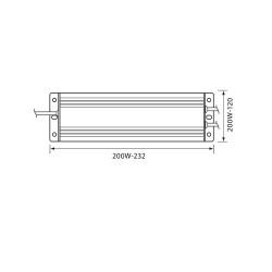 200W LED Netzteil 12V Wasserdicht LED Streife IP67 VL3655