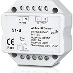 230V Triac LED Dimmer mit Fernbedienung für LED Dimmbare Leuchten bis 240W GL6202