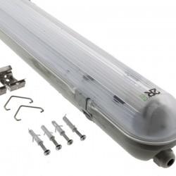 18W T8 LED LEUCHTKÖRPER SET Feuchtraum Beleuchtung 120 cm 1 Röhre IP65 Kaltweiß oder Neutralweiß 65136