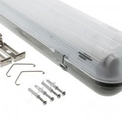 52W T8 LED LEUCHTKÖRPER SET Wannenleuchte Feuchtraum Beleuchtung 150 cm 2 Röhren IP65 Kaltweiß oder Neutralweiß 65258
