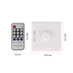 Wand Lichtschalter Dimmer 1Weg Fernbedienung Weiß GL6212