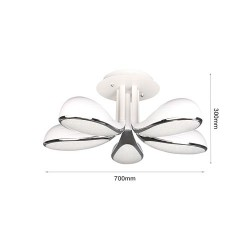 60W LED Deckenleuchte CCT Premium Design Alle Tageslichtfarben GL6432