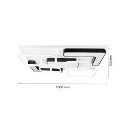 198W LED Deckenleuchte CCT Premium Design Geometrisch DIMMBAR Alle Tageslichtfarben GL6447