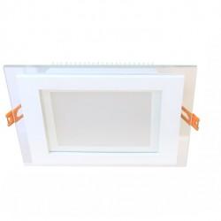 18W LED Einbauleuchte GLAS PREMIUM 230V Quad Kalt-, Neutral-, Warmweiß  GL2159