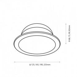10W LED Einbauleuchte PREMIUM  RUND Matt Neutralweiß IP44 GL2168