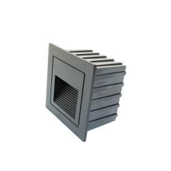 2W LED Treppenleuchte Einbau Quad Schwarz Neutralweiß GL8322