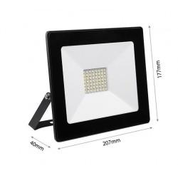 50W LED Strahler SMD IP65 Schwarz TOSHIBA DECO Kalt, Neutral, Warmweiß GL5207/GL5215/GL5208