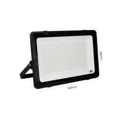 400W LED Strahler Ultrahell Scheinwerfer TOSHIBA LED IP65 Schwarz DECO Kaltweiß GL5218
