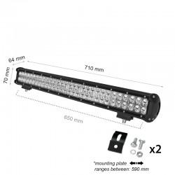 180W LED AUTO SCHEINWERFER LBL 12V BAR Kaltweiß GL9306