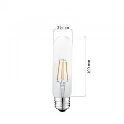 4W E27 LED FILAMENT T10 360° Glass ULTRA SMOKE Warmweiß GL1332