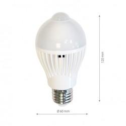 7W E27 LED Birne A60 MIT BEWEGUNGSMELDER Deckenleuchte Kaltweiß Gl1320