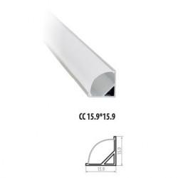 2 Meter SET LED Profil 45° 1m 15,9x15,9 Weiß UL3369