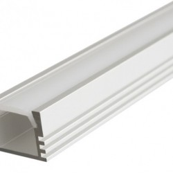 2 Meter SET LED Profil Aufbau PDS-ALU Grau UL3354