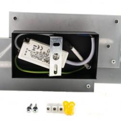 12W Designer LED Wandbeleuchtung Schwarz Gehäuse IP20 Warm Weiß UL8204
