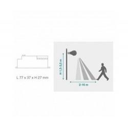 Bewegungsmelder Aufbau MICROWAVE 120° IP20 LED 300W Weiß UL5078