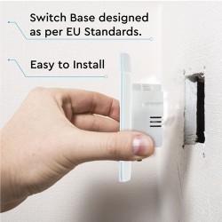 Design Wand Lichtschalter 1Weg Standard LED Glas Weiß UL8354