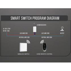 Funk LED Lichtschalter Fernbedienung für SMART Controller UL8459 UL8463