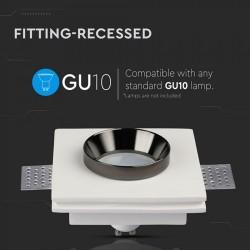 Einbauleuchte Gips Trockenbau GU10 Spot Quad Schwarz-Lack UL3148
