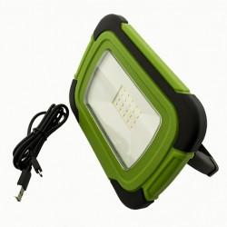 10W LED Scheinwerfer SAMSUNG Wiederaufladbar Grüne Gehäuse SMD Kaltweiß UL0503