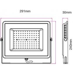 100W LED Strahler SMD IP65 PREMIUM Schwarz Kalt-/Neutral-/Warmweiß UL5966/UL5965/UL5964