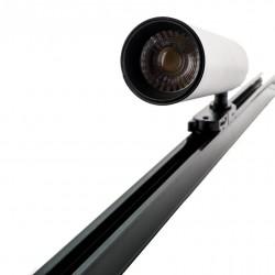20W LED Schienenleuchte 3 Phasen SAMSUNG Dioden Schwarz Gehäuse Warmweiß UL0365