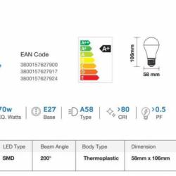 11W E27 LED Birne PREMIUM SAMSUNG 5 Jahre GARANTIE 200° A60 Matt Warmweiß UL0177