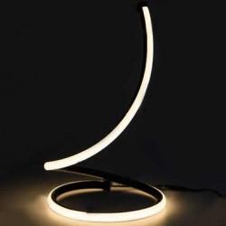 17W LED Tischlampe Design Nachttischlampe Schwarz Warmweiß UL40311
