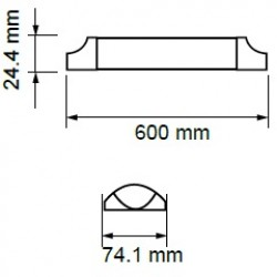 15W LED Battenleuchten SAMSUNG 60cm IP20 HILUMEN Kalt-, Neutral-,Warmweiß UL6489/UL6488/UL6487