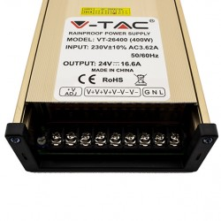 400W Metal Netzteil Standard für LED Steifen 24V 16,6A UL3265