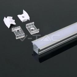 2 Meter SET LED Profil Einbau PDS-ALU Grau UL3351
