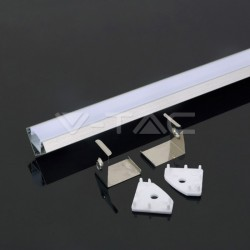 2 METER SET LED ALUMINIUM Profil 45° GRAU UL3356