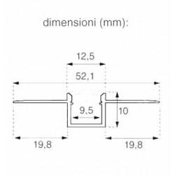 2 Meter SET Alu Profil PRO SPECIAL Unterputz Aluminium UL3360