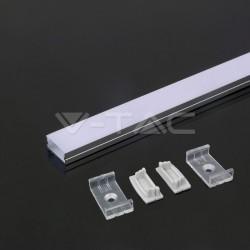 2 Meter SET LED Profil MACRO ALU 2m Grau UL3352