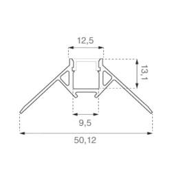 2 Meter SET Alu Profil Ecke Außen PRO SPECIAL Unterputz Aluminium UL3361