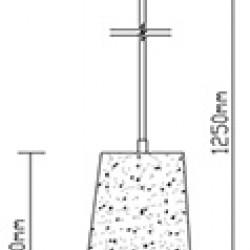 Beton Pendelleuchte für LED E27 Design Hängeleuchte UL3850