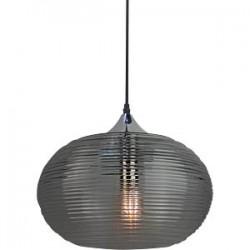 Design Glas Pendelleuchte für LED E27 Diamantschnitt Schwarz Hängeleuchte UL3880