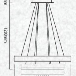 115W Design LED Luster Dimmbar 3 Jahre Garantie Hängeleuchte Warmweiß UL3986