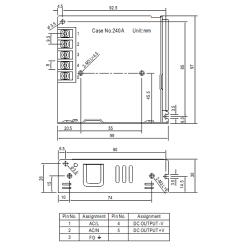 75W MEANWELL Netzteil C.V.  5V-48V LRS75CV