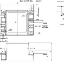 LED Überspannung Sicherung MeanWell IP67 max20kA SPD20-240P
