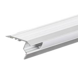 2 Meter SET LED Profil Treppenstufe eloxiert 2m Grau APN210LX